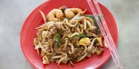 54432499 - chinese fried noodles that local food call chao guo tiao in penang ,malaysia.